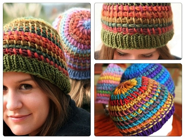 Free Knitting And Crochet Patterns Online : Metamorphosis Tunisian Crochet Hat